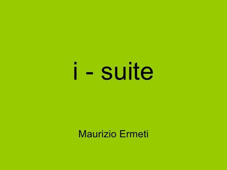 Forum Hospitality: I-Suite by Murizio Ermeti