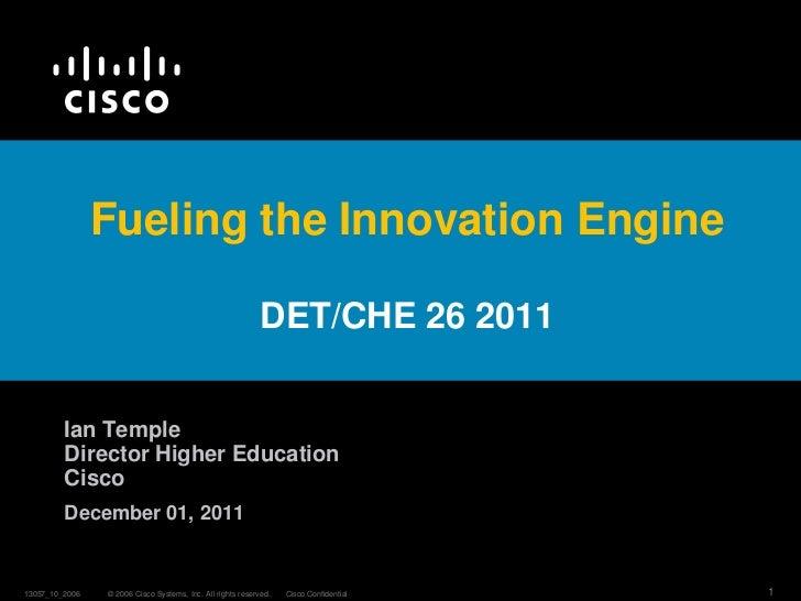 I. Temple CISCO Fueling the Innovative Engine