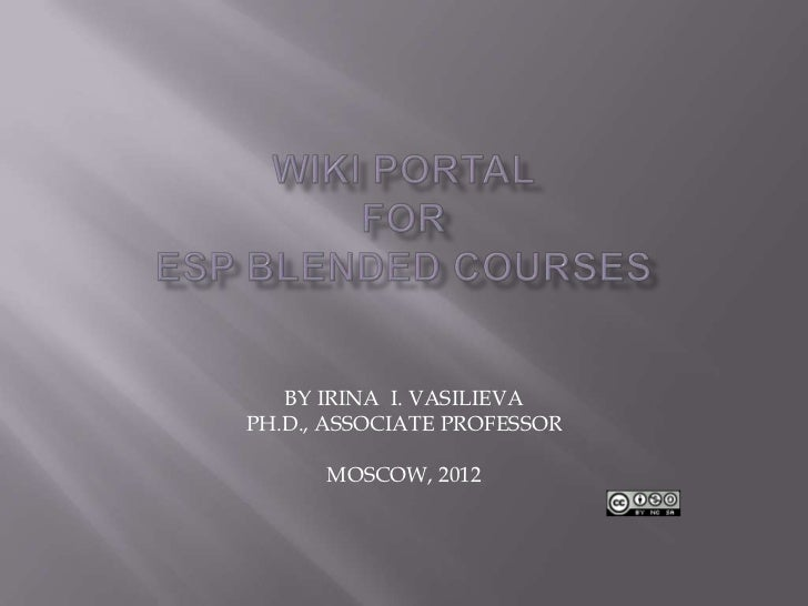 Blended Wiki ESP Courses (PPT article)