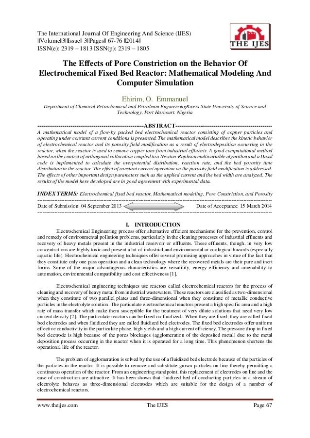 The International Journal Of Engineering And Science (IJES) ||Volume||3||Issue|| 3||Pages|| 67-76 ||2014|| ISSN(e): 2319 –...