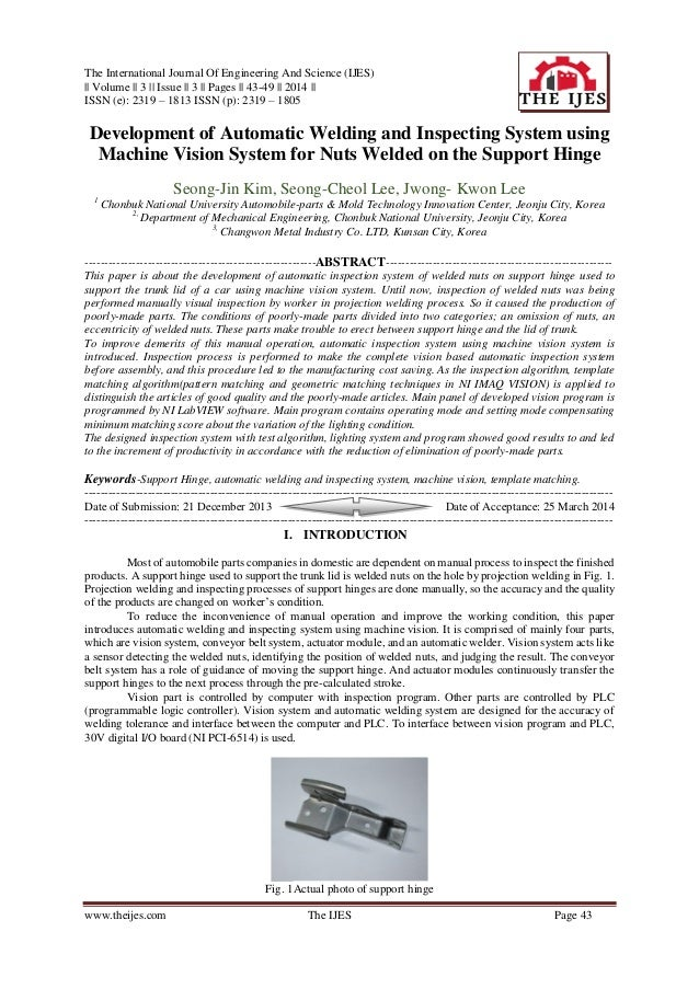 The International Journal Of Engineering And Science (IJES) || Volume || 3 || Issue || 3 || Pages || 43-49 || 2014 || ISSN...