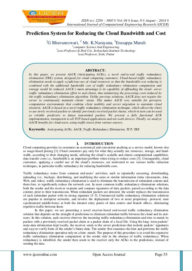 ISSN (e): 2250 – 3005 || Vol, 04 || Issue, 8 || August – 2014 ||  International Journal of Computational Engineering Resea...