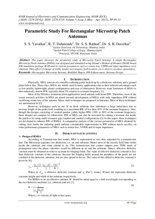 IOSR Journal of Electronics and Communication Engineering (IOSR-JECE)e-ISSN: 2278-2834,p- ISSN: 2278-8735. Volume 5, Issue...