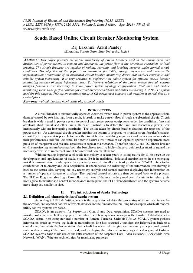 IOSR Journal of Electrical and Electronics Engineering (IOSR-JEEE) e-ISSN: 2278-1676,p-ISSN: 2320-3331, Volume 5, Issue 3 ...