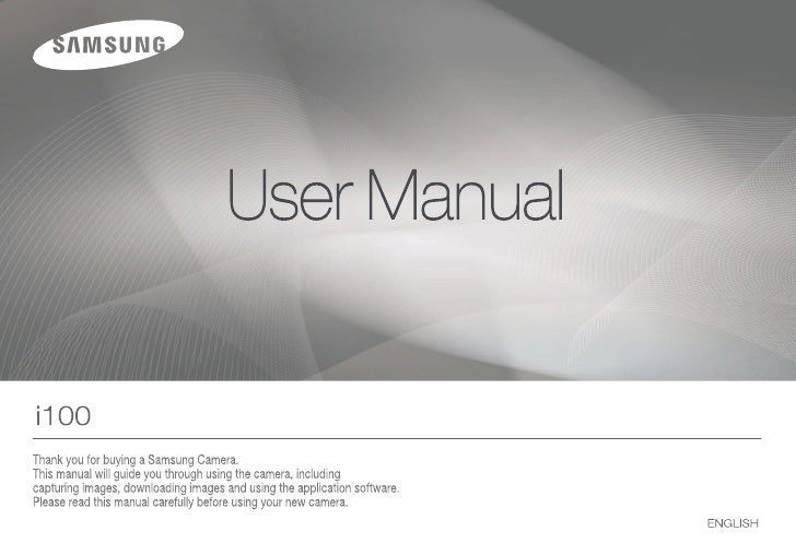 Samsung Camera i100 User Manual