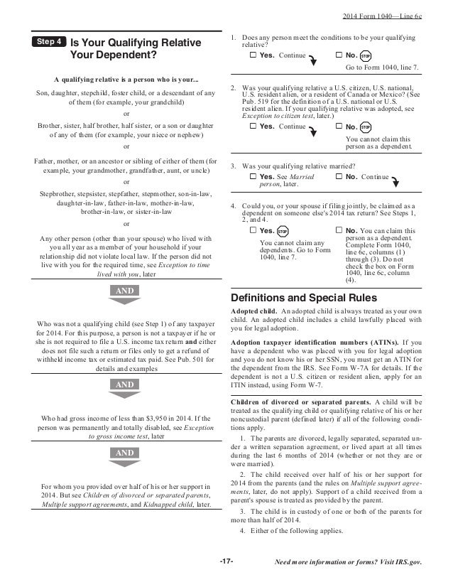 Irs Filing Irs Filing Instructions For Form 1040