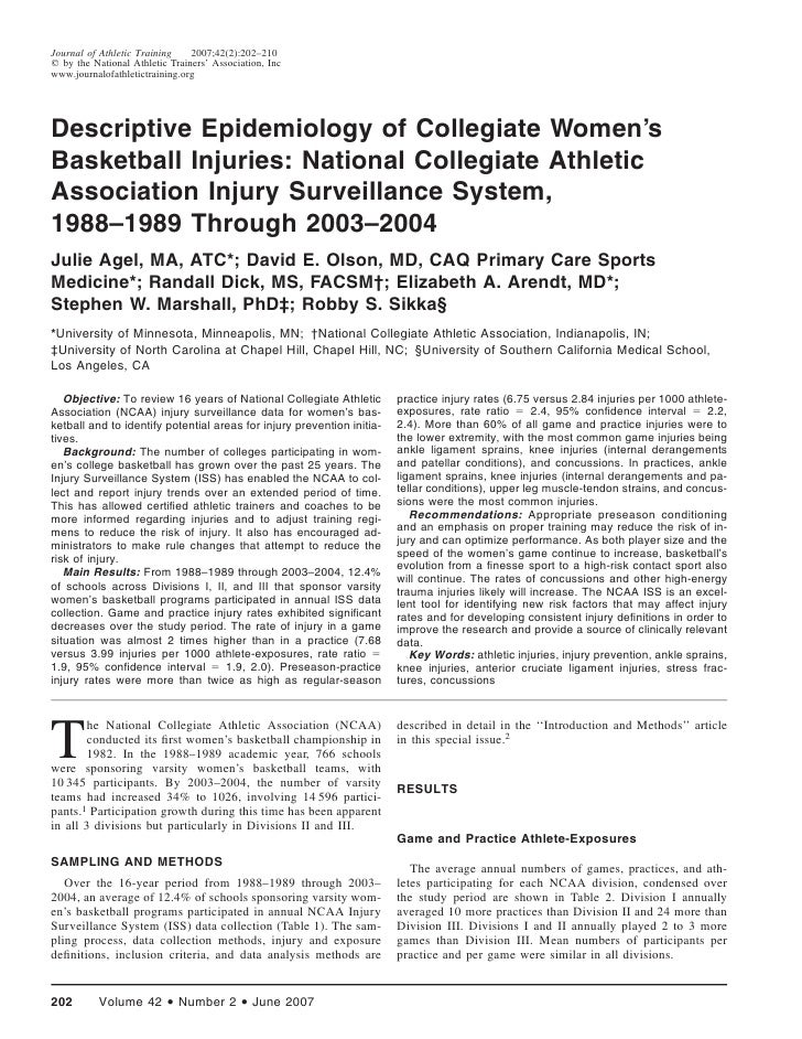 Journal of Athletic Training    2007;42(2):202–210᭧ by the National Athletic Trainers' Association, Incwww.journalofathlet...