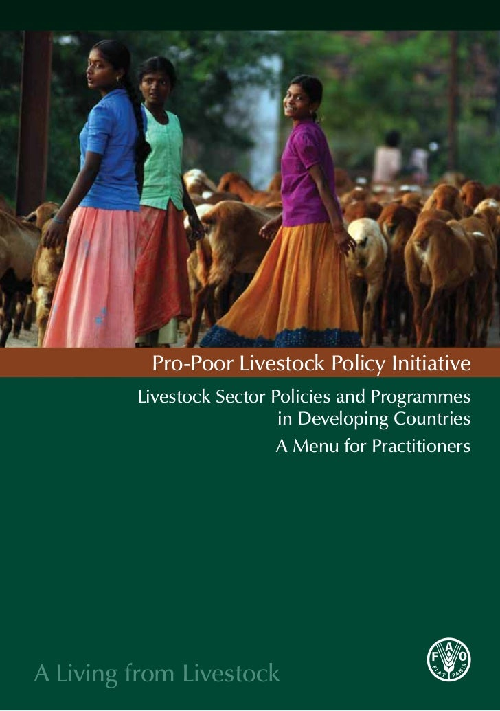 Pro-Poor Livestock Policy Initiative         Livestock Sector Policies and Programmes                           in Develop...