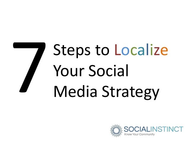 Steps to LocalizeYour SocialMedia Strategy
