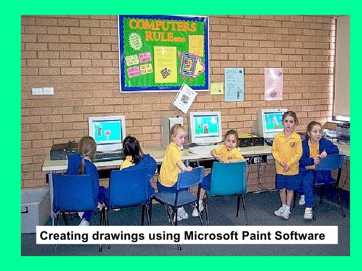 Creating drawings using Microsoft Paint Software