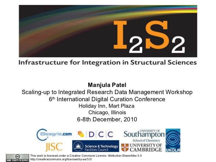 Integrated research data management in the Structural Sciences