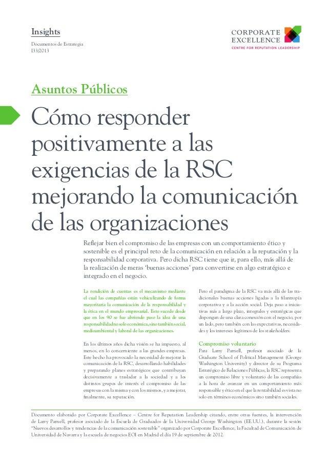Cómo responder positivamente a las exigencias de la RSC mejorando la comunicación de las organizaciones
