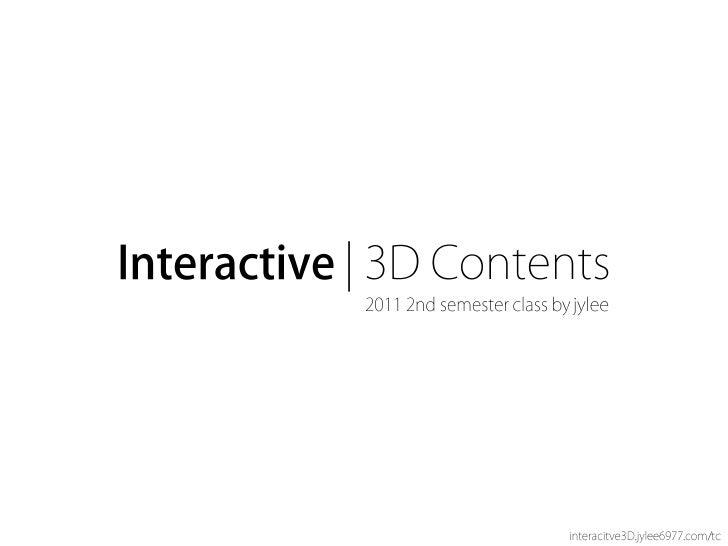 [I3 d]03 interactivity