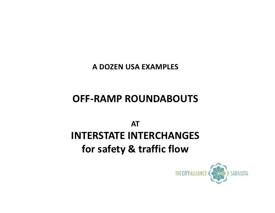 USA Interstate Off-Ramps & I-75 Fruitville Interchange Plan