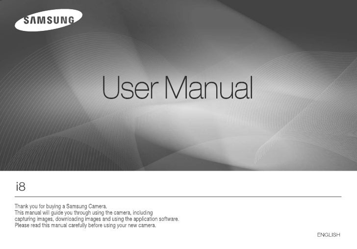 Samsung Camera i8 User Manual