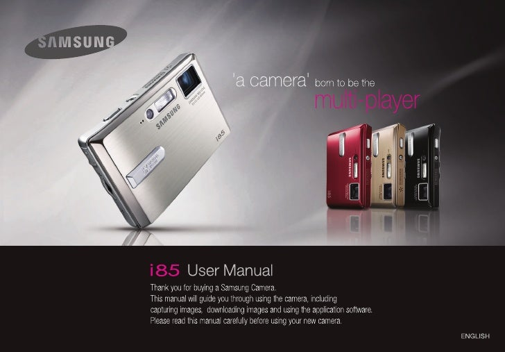 Samsung Camera i85 User Manual