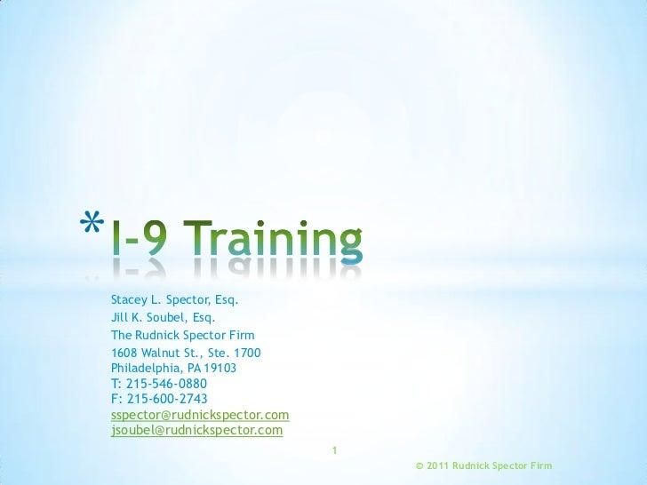 I 9 Training
