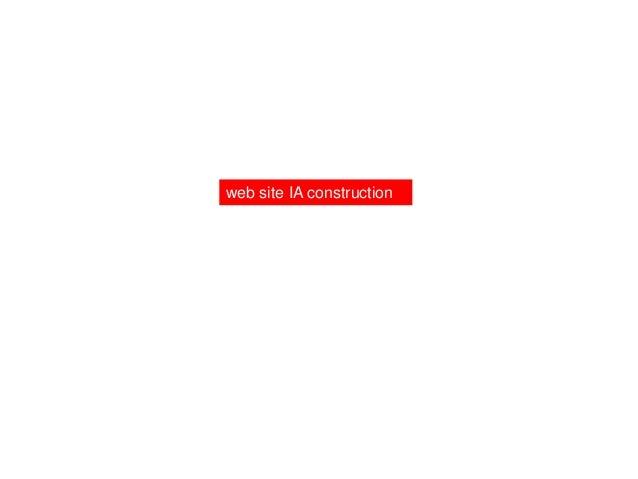 web site IA construction