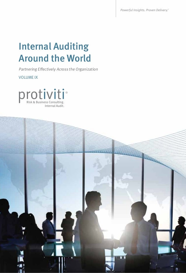 Internal Auditing Around the World Partnering Effectively Across the Organization VOLUME IX