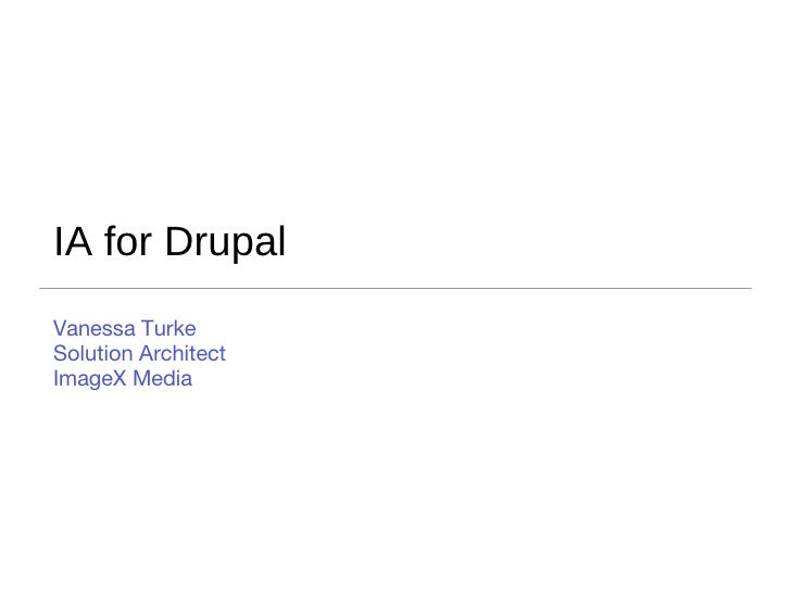 Information Architecture for Drupal
