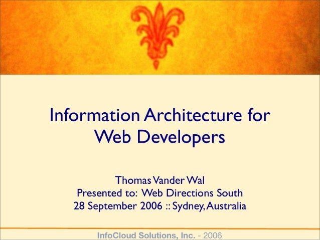 IA for Web Developers