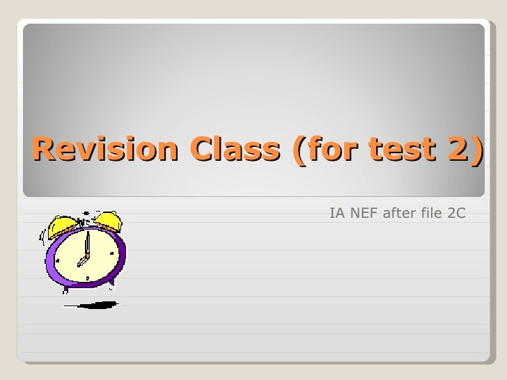 Ia Unit 2 Pe Revision Class (For Test 2)