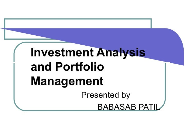 investment analysis portfolio management View copies of investment analysis and portfolio management (with thomson  one - business school edi.