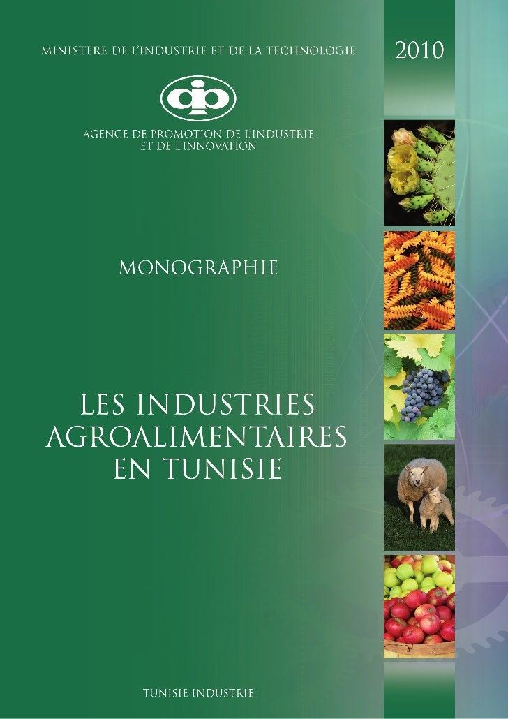 Les indutries agroalimentaires en Tunisie