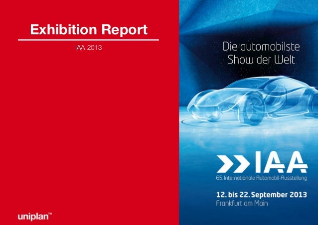 Exhibition Report IAA 2013