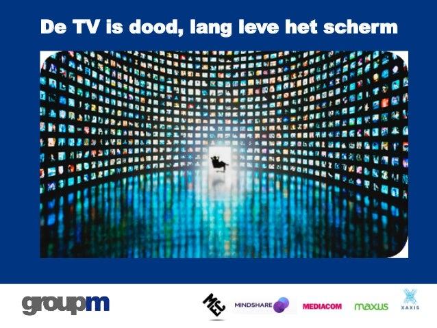 De TV is dood, lang leve het scherm