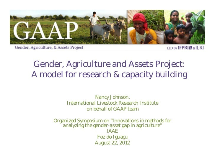 Gender, Agriculture and Assets Project: A model for research and capacity building