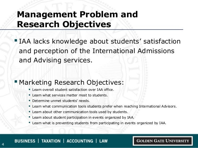 objective of market research Learn about market research problems, alternatives and get tips on the best approach to answering the questions generated by such research the in market research, research questions tend to come from internal clients about how to achieve a certain marketing objective or another.