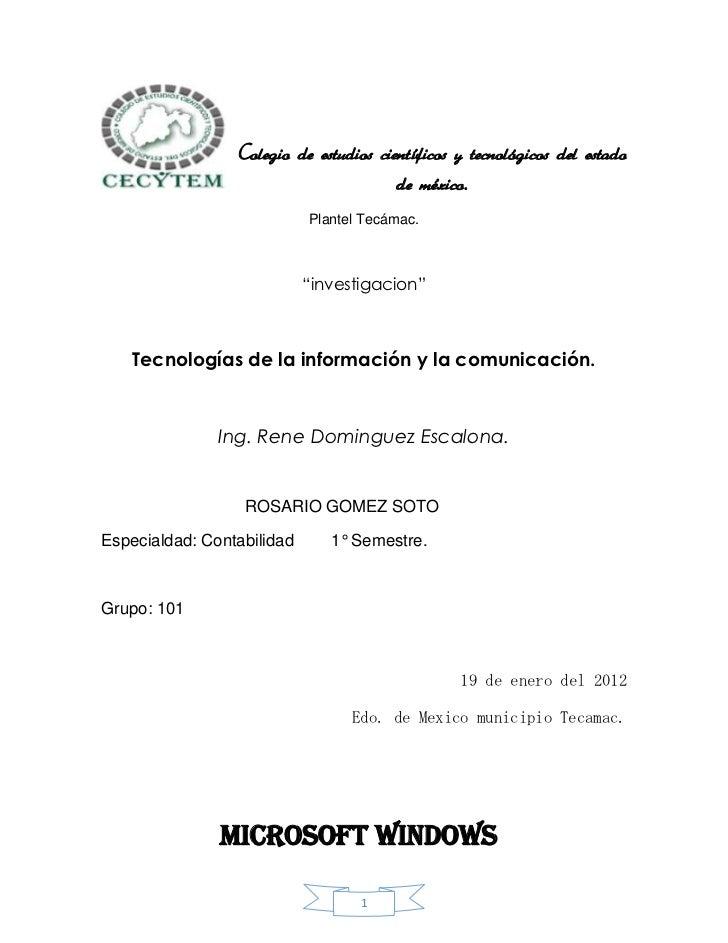 Colegio de estudios científicos y tecnológicos del estado                                        de méxico.               ...