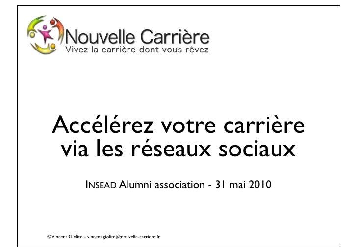 PDF - Reseaux sociaux - Insead alumni - 31 mai