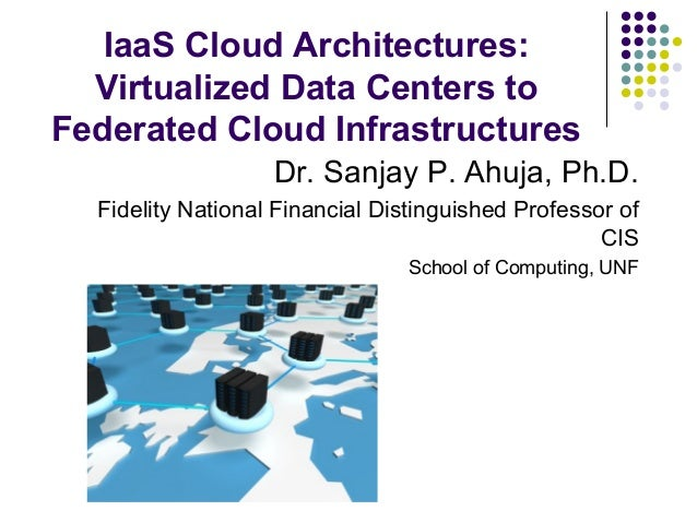 IaaS Cloud Architectures: Virtualized Data Centers to Federated Cloud Infrastructures Dr. Sanjay P. Ahuja, Ph.D. Fidelity ...