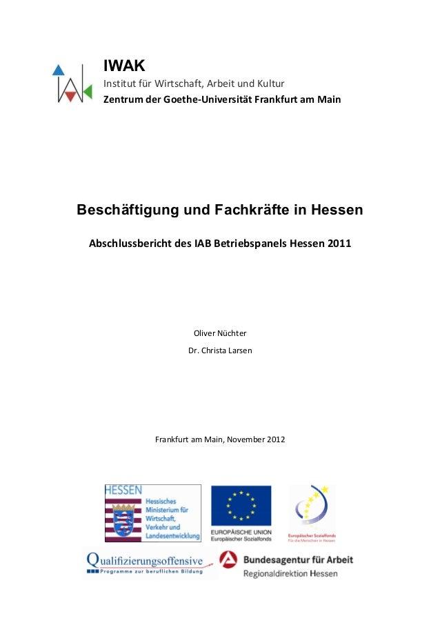IWAK   Institut für Wi              r Wirtschaft, Arbeit und Kultur   Zentrum der G Goethe-Universität Frankfurt am Main  ...