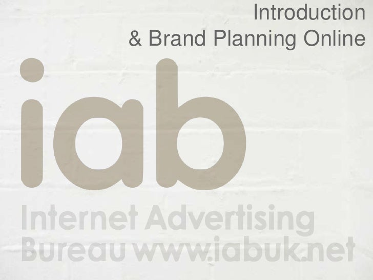 Iab   intro and brand planning online