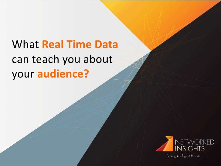What Real Time Data can teach you about your audience?<br />