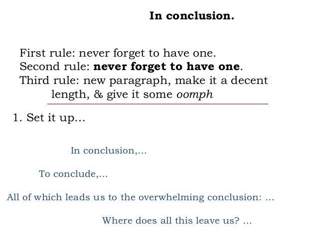 Persuasive conclusion paragraph help?