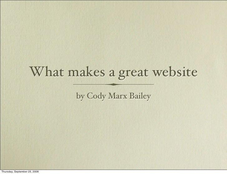 IABC Presentation on Websites