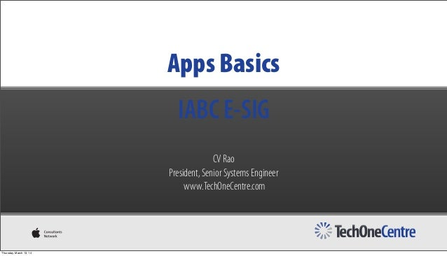 CV Rao Presents Mobile App Development Basics