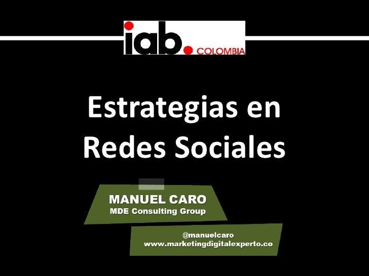 Estrategias enRedes Sociales