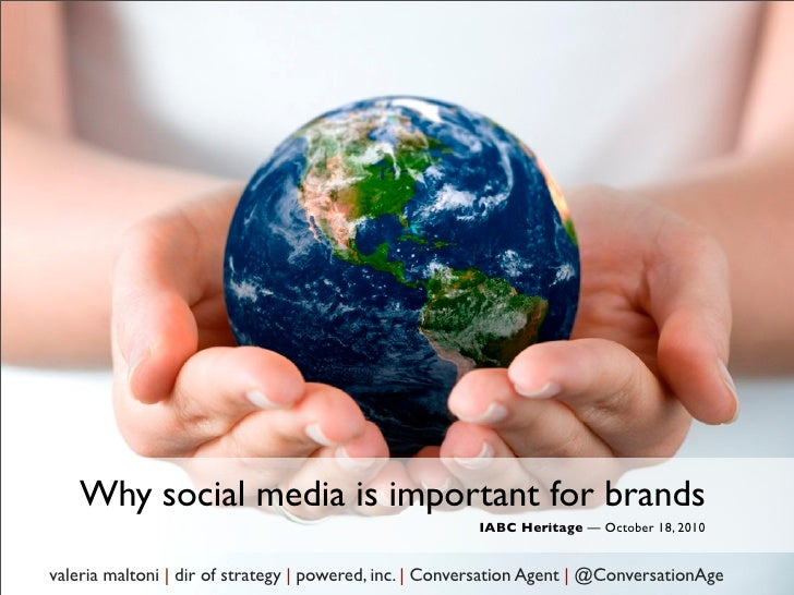 Why social media is important for brands                                                         IABC Heritage — October 1...