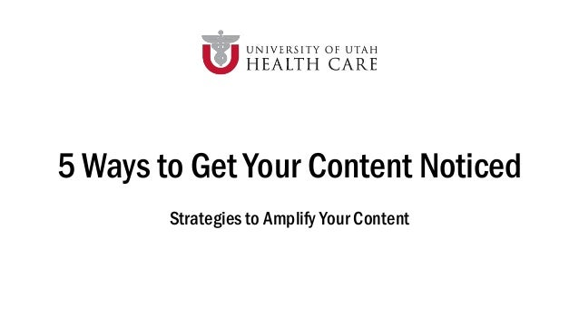 5 Ways to Get Your Content Noticed