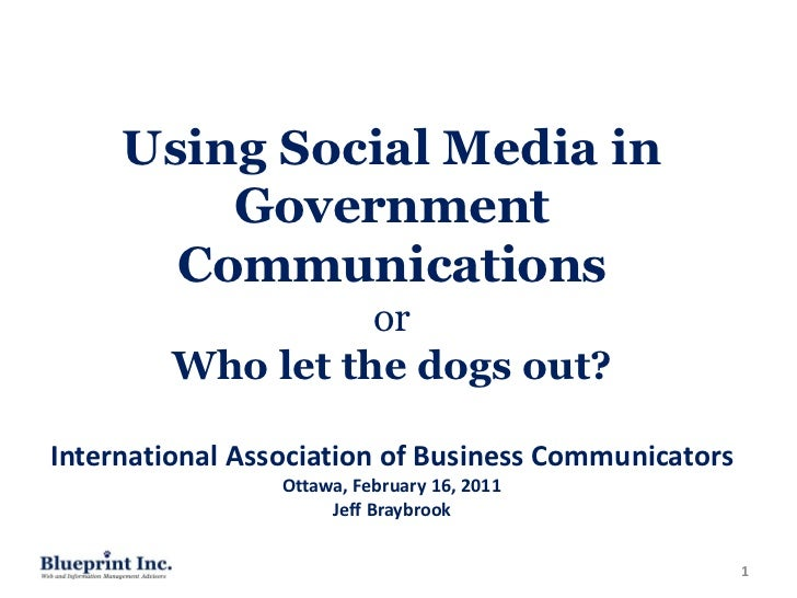 Using Social Media in         Government       Communications                   or         Who let the dogs out?Internatio...