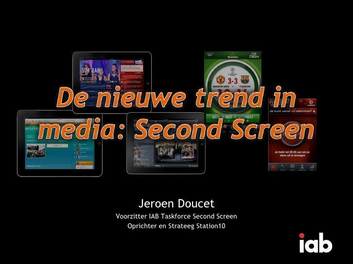 De nieuw trend in media - second screen