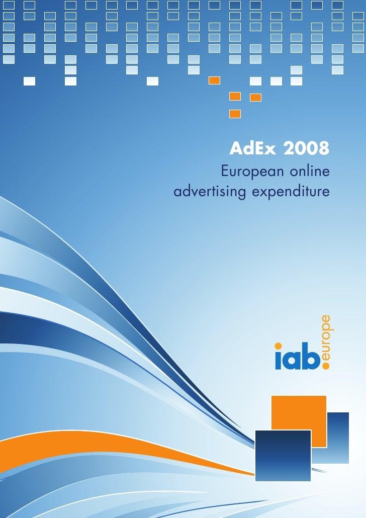 AdEx 2008        European online advertising expenditure