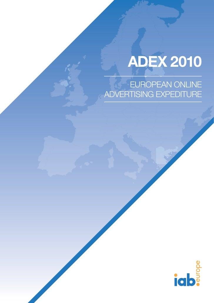 IAB Europe Ad Ex2010 Online Adspend study