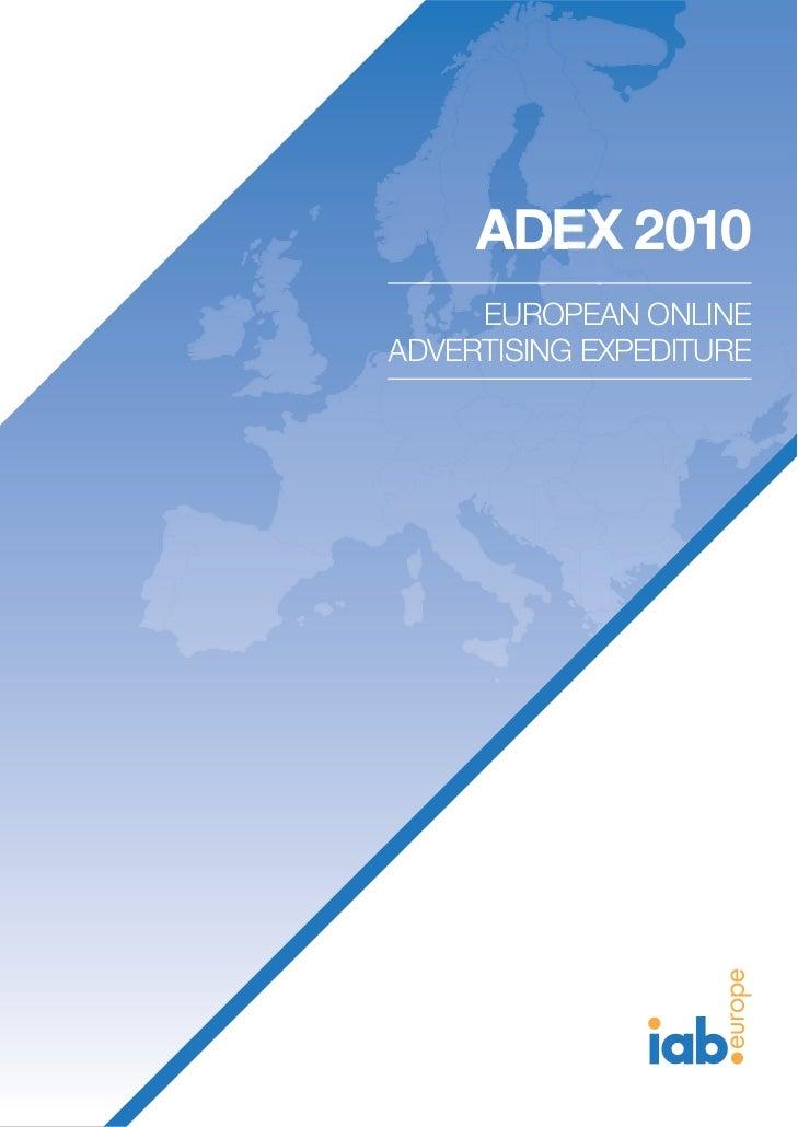 ADEX 2010     EUROPEAN ONLINEADVERTISING EXPEDITURE