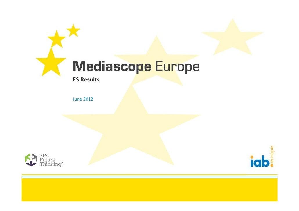 IAB Europe Mediascope ES Launch Presentation 2012